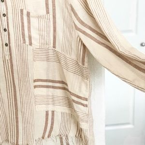Wonderly Woven Popover Blouse